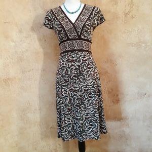 BCBG Print Matte Jersey Dress